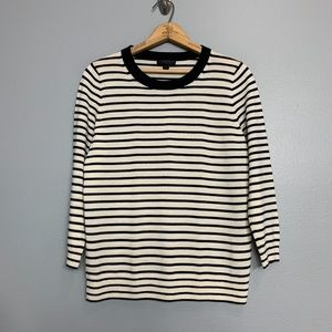 J. CREW | Thin Stripe Merino Wool Sweater Sz M